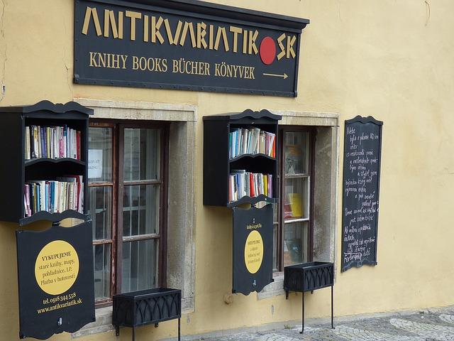 obchod se starými knížkami