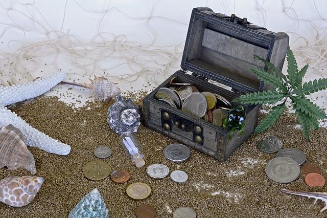 truhlička s pokladem