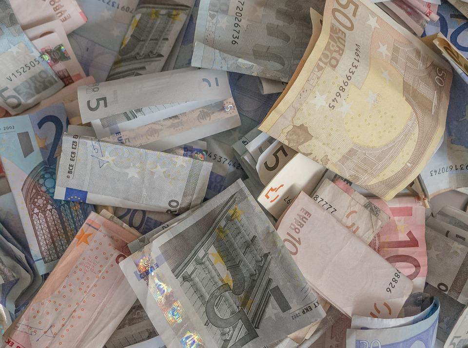 pomačkaná eura